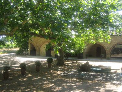 La cours intérieure et ses arches
